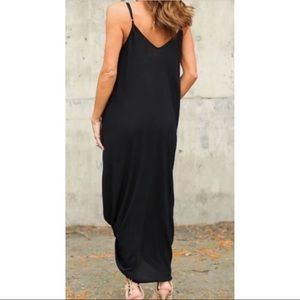 6d8393ba10 couturegypsy Dresses - Black oversized cocoon maxi dress with pockets